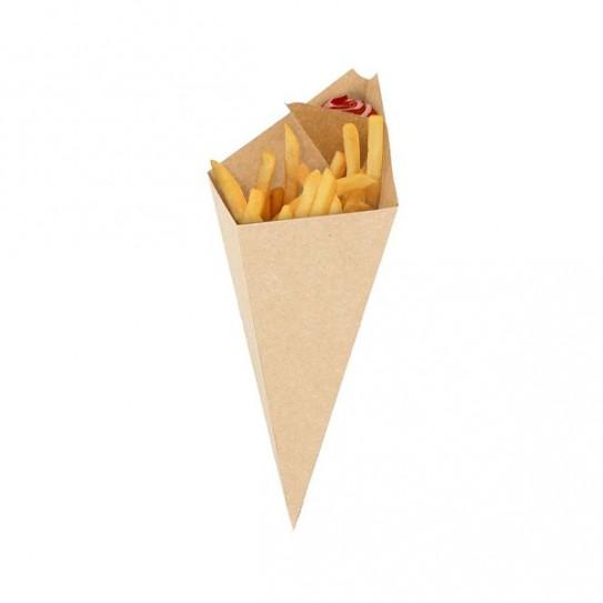 Cornet a frites carton kraft