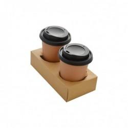 miniature Porte-Gobelets 2 compartiments BRUN