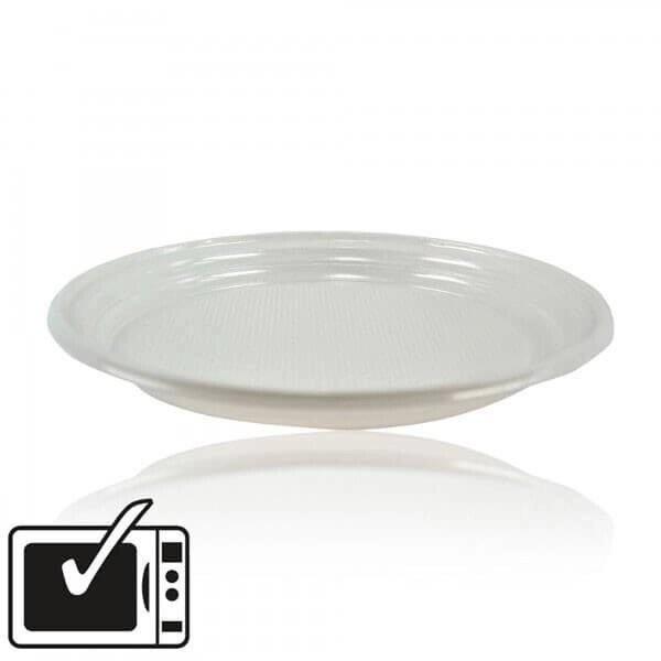 zoom Assiette Plastique Blanche Standard