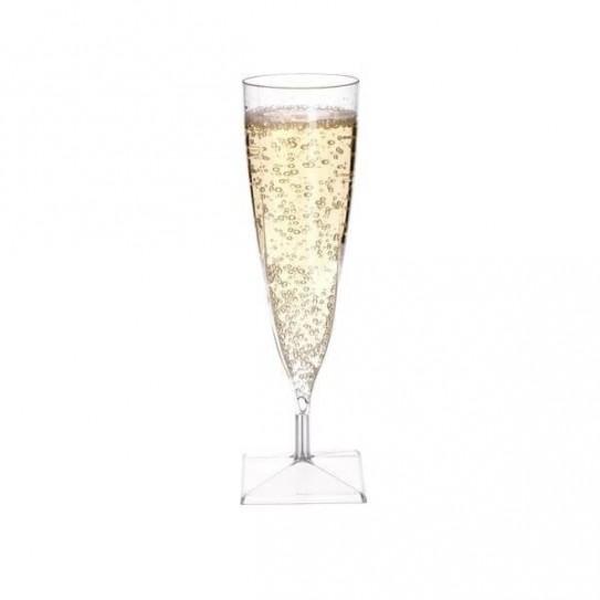 Flûte à champagne transparente