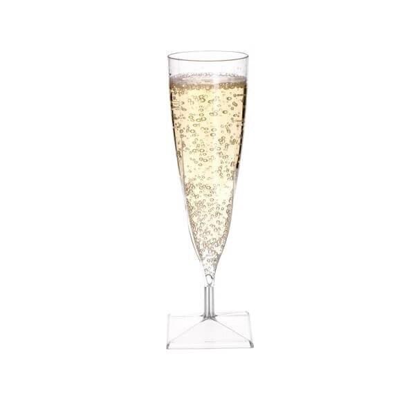 zoom Flûte à champagne transparente