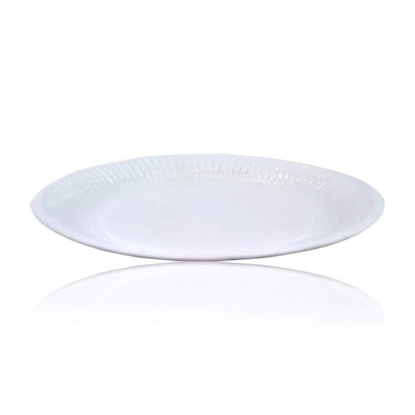 zoom Assiette carton blanche standard