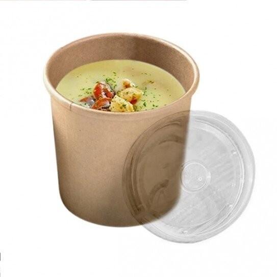 Pot à Soupe Carton Kraft Brun