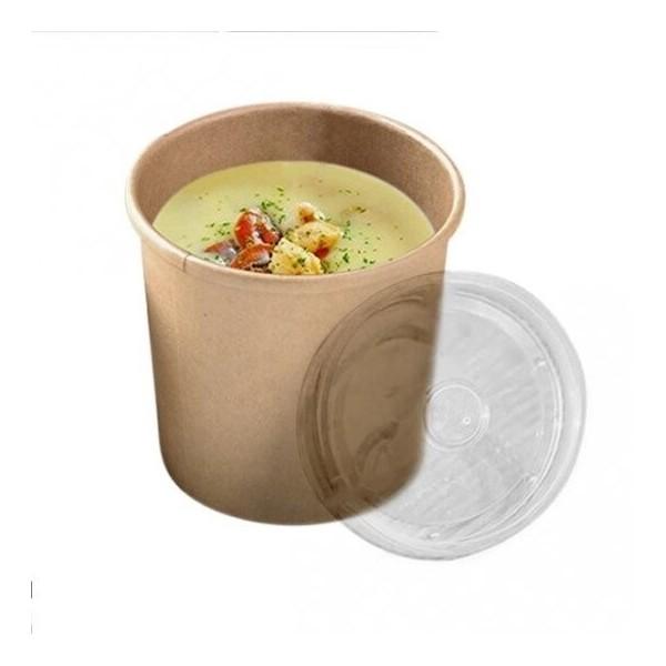 zoom Pot à Soupe Carton Kraft Brun