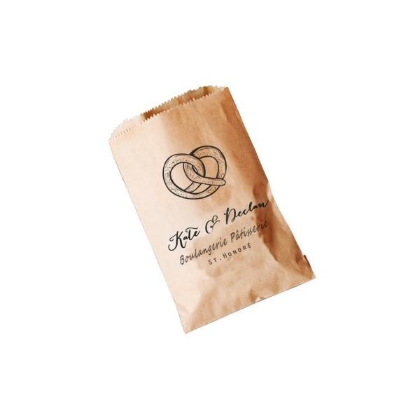 Sac croissant kraft brun personnalisable
