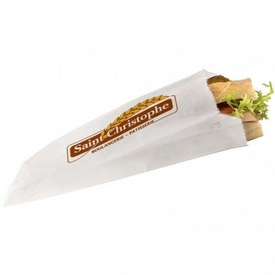 Sac à sandwich en papier personnalisé