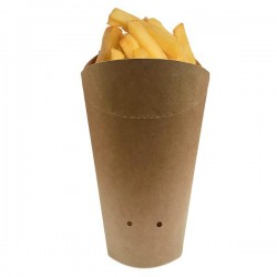 Pot à frite carton kraft
