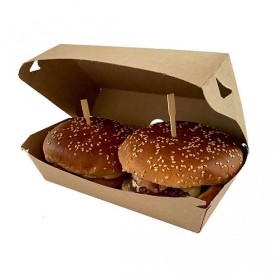 Boite burger double kraft