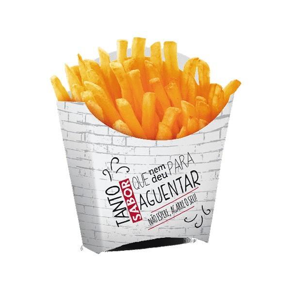Pochette frite ouverte personnalisée