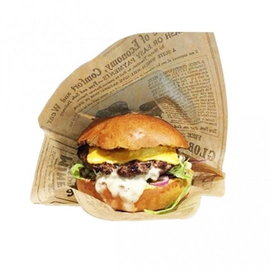 Sachet burger rétro