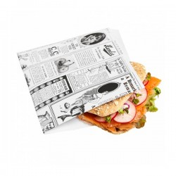 Sachet burger Newspaper
