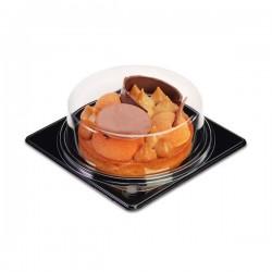 miniature Boite à tarte fond noir + couvercle