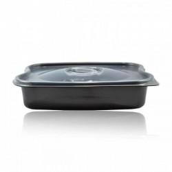 miniature Barquette traiteur plastique noire micro ondable