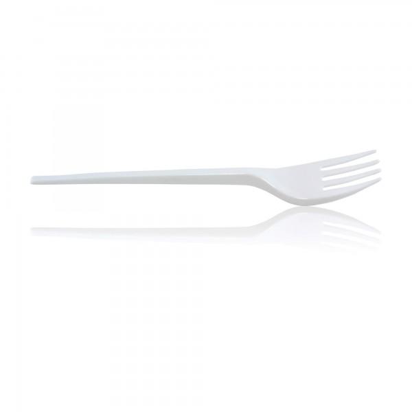 zoom Fourchette plastique blanche