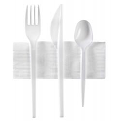miniature Kit couverts blanc 4 en 1