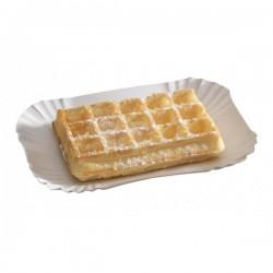 miniature Assiette Carton Rectangle pour gaufre