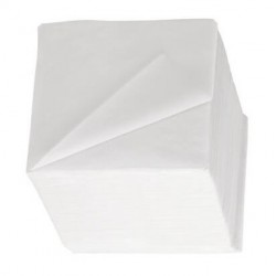 Serviettes 24x24 blanches 2 plis