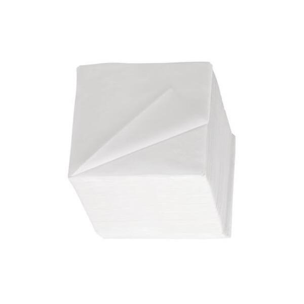 zoom Serviettes 24 x 24 blanches 2 plis