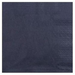 miniature Serviette 33 x 33 noir 2 plis