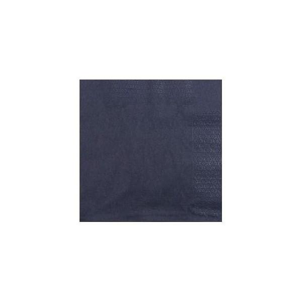 zoom Serviette 33 x 33 noir 2 plis