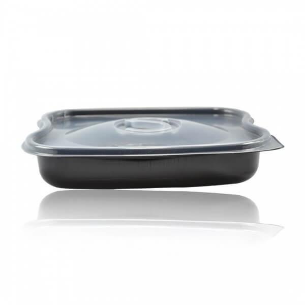 Barquette traiteur plastique noire micro ondable
