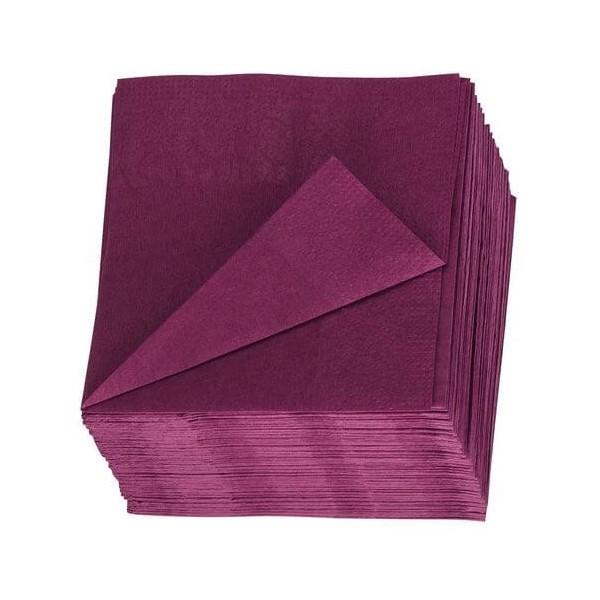 Serviettes colorées 2 plis par sachet