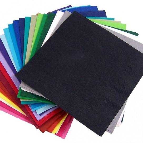 Serviettes colorées 2 plis
