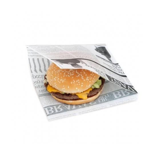 Sachet burger Newspaper