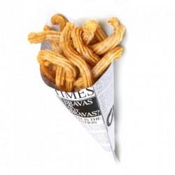 Cornet frite newspaper