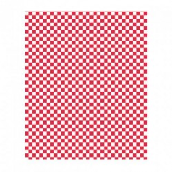 miniature Papier rectangle damier ingraissable