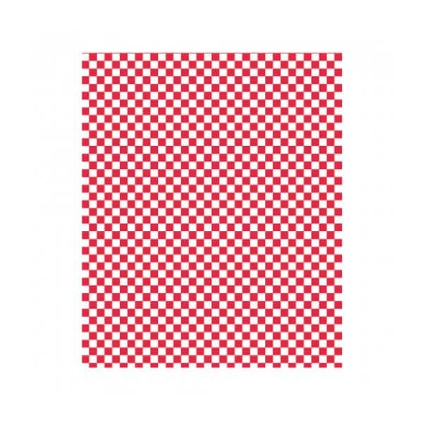 Papier rectangle damier ingraissable