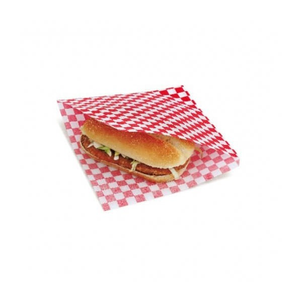 Sachet burger damier rouge