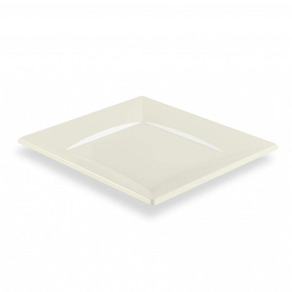 zoom Grande Assiette Carrée Plastique
