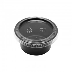 miniature Pot à sauce noir