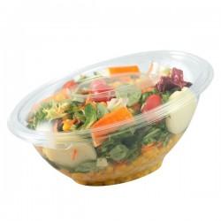 Bol salade biseauté transparent