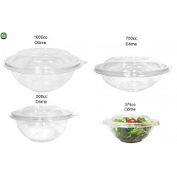 miniature Bol Salade Plastique Rond Dôme