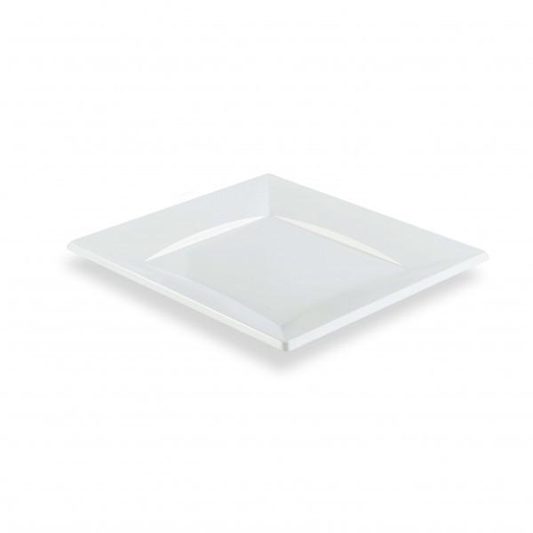 zoom Petite Assiette Carrée Plastique