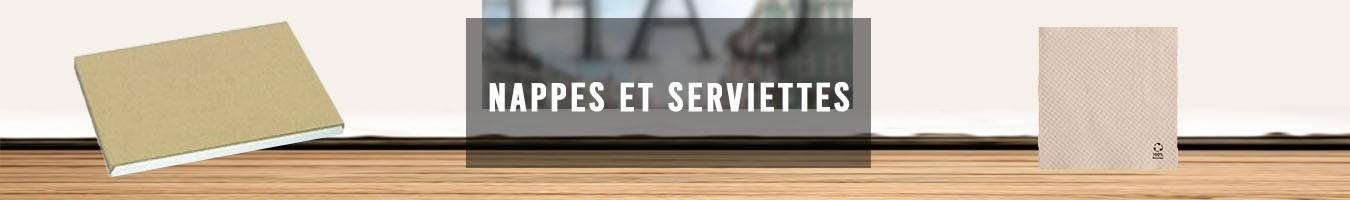 Serviette en papier et Nappe jetable - Le Bon Emballage