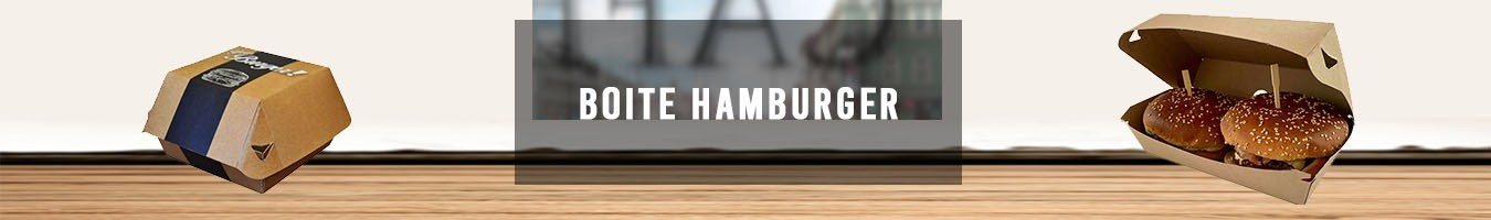 Boite Hamburger pour Emballage Snacking - le Bon Emballage